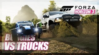 Forza Horizon 3 - Buggies vs Trucks Ultimate Challenge! (Races & Hunt)
