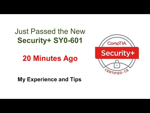 Just Passed the New Security+ SY0-601 20 Minutes Ago, My ...