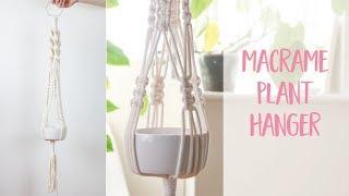 Macrame Plant Hanger How To DIY Tutorial | Craftiosity | Craft Kit Subscription Box
