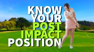 [Golf with Aimee] Aimee's Golf Lesson 028: Know Your Post Impact Position!