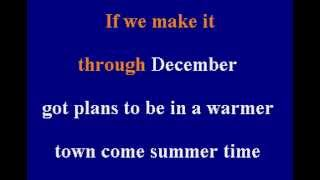 Merle Haggard - If We Make It Through December - Karaoke