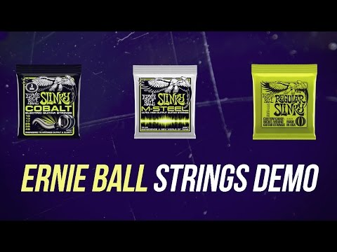 Ernie Ball Electric Guitar Strings Comparison - The Ultimate Strings Demo!