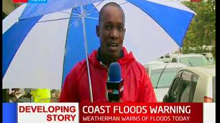 Weatherman warns Kenyans of three-day heavy rains along some parts of the coastal region