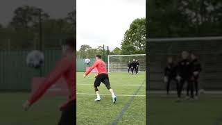 HALF VOLLEY VS 3 KEEPERS! 🎯🤯 #Shorts