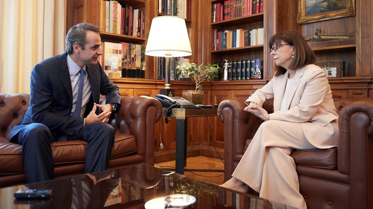 Συνάντηση Πρωθυπουργού Κυριάκου Μητσοτάκη με την Πρόεδρο της Δημοκρατίας Κατερίνα Σακελλαροπούλου
