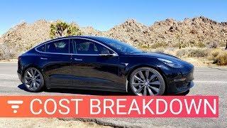 Tesla Model 3 Cost Breakdown - How Much I've Spent in 6 Months