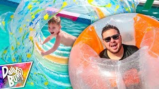 SWIMMING POOL OBSTACLE COURSE BRIDGE !