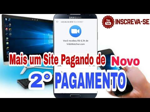 2° Pagamento do SITE Vidswatcher - Ganhe dinheiro no PAYPAL assistindo vídeos.