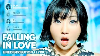 2NE1 - Falling In Love (Line Distribution + Lyrics Color Coded) PATREON REQUESTED