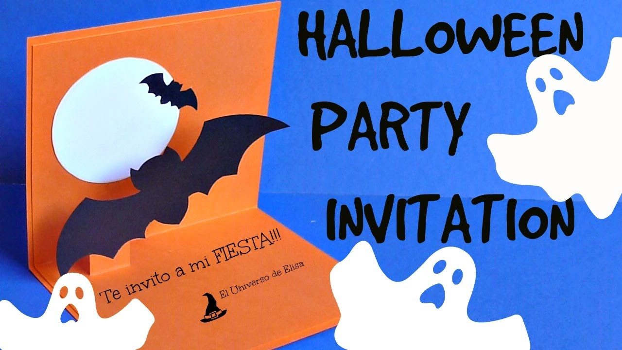 Diy, Tarjeta Invitación para Halloween Super Fácil, Halloween Party Invitation, Halloween card