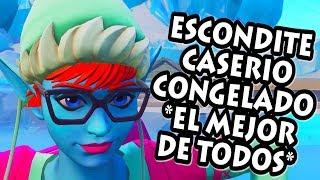JUGANDO AL ESCONDITE en 😂 CASERIO CONGELADO 🤣 *EL MEJOR ESCONDITE* FORTNITE PERSONALIZADAS