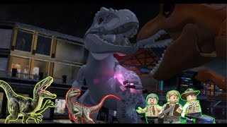 Lego Jurassic World: Final Boss Fight [Indominus Rex Vs. T-Rex] Finish Story [How to End]