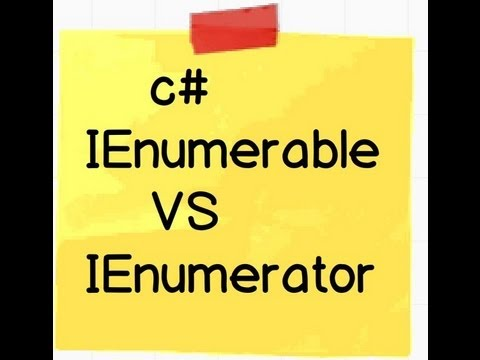 What is the difference between IEnumerable and IEnumerator?(  NET