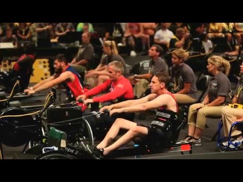 Luke Delahunty of UK Competes in Indoor Rowing of Invictus Games