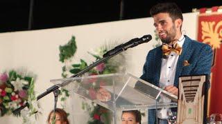 preview picture of video 'Santi Avendaño pregonero Fiestas de La Roda 2014'