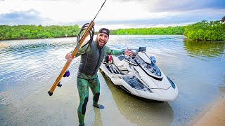 Spearfishing for RARE Grouper with PERFECT SHOT!! (mission complete)