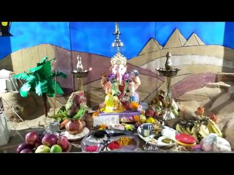 Akash Shinde Home Ganpati Decoration Video