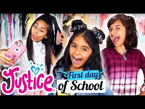 FIRST DAY OF SCHOOL OUTFITS WITH GEM SISTERS 💗 JUSTICE