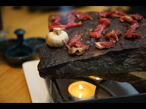 Ishiyaki Beef Grilling on Icelandic  stone with dipping souce