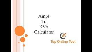 Free Online Amps to Kva Calculator