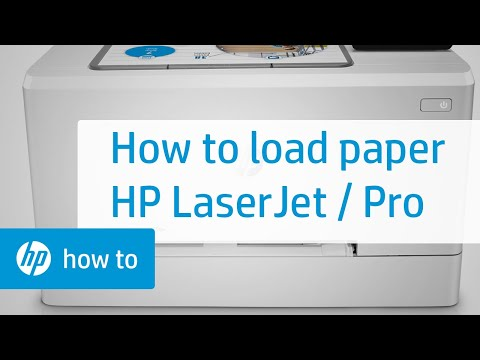 Papier laden in uw HP LaserJet-printer