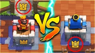 THE GREATEST DECK EVER!! LVL 1 BEATS A LEVEL 8 in Clash Royale!!