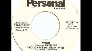 "Wish - Touch Me (All Night Long) - rare 7""inch Version (A-Side) - Personal Records ‎KN 7001"