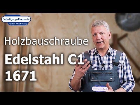 Holzbauschrauben - Edelstahl C1 - Senkkopf mit Bohrspitze - Torx - blank
