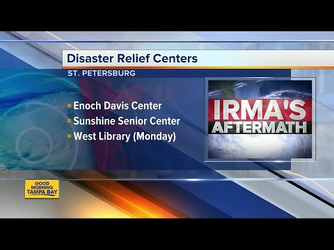 Disaster Relief Centers open up throughout Tampa Bay Area