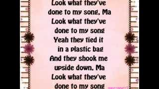 Miley Cyrus - Look What They've Done To My Song lyrics.
