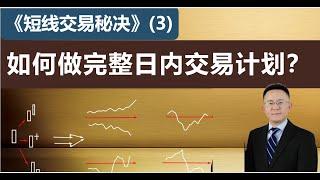103《短线交易秘诀》(3)如何做完整的日内交易计划?