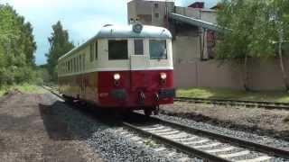 preview picture of video 'Trať 144 slavnostní vlak k obnovení provozu úseku Krásný Jez - Horní Slavkov Kounice 28.6.2013'