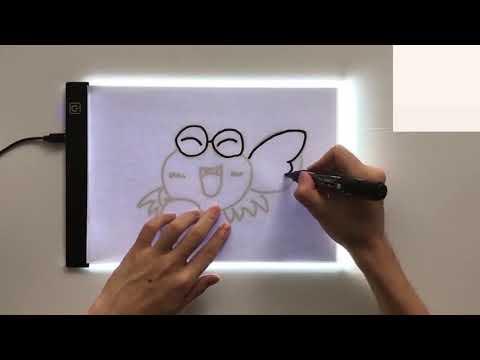 Световой планшет А4 для рисования и копирования с 3 режимами подсветки и USB кабелем Light Board (LB-20641) Video #1