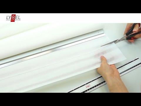 LYSEL® Schiebegardine - Anleitung zum Kürzen