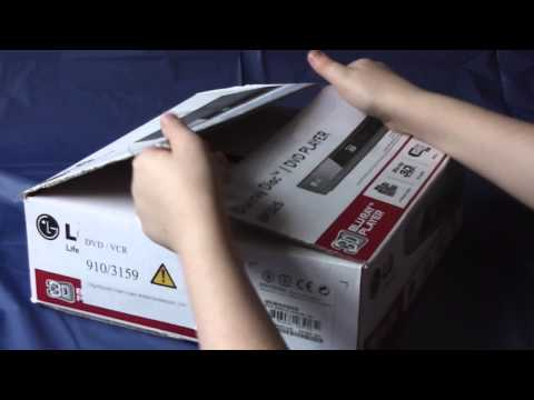 LG blu-ray/dvd player BP325 unboxing and look around