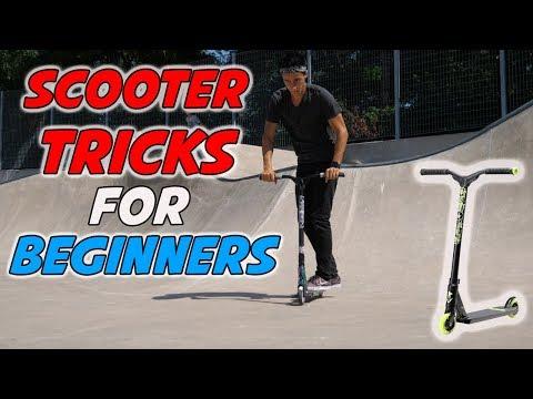 5 BASIC SCOOTER TRICKS AT SKATEPARK