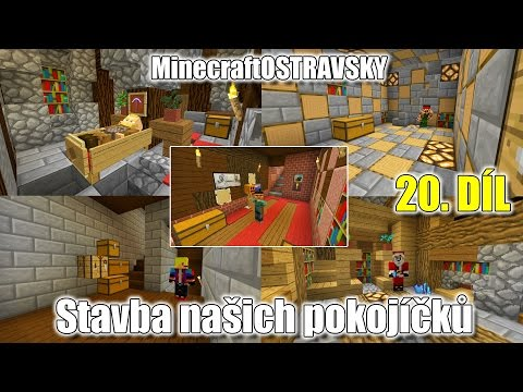 #20 | MinecraftOSTRAVSKY - Stavba našich pokojíčků | NEKONEČNÁ SÉRIE | [FULLHD]