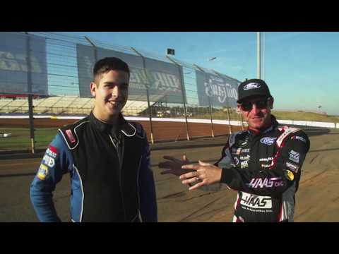 Clint Bowyer Meets the World of Outlaws iRacing Late Model Champion Zach Leonhardi