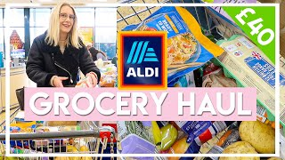 £40 WEEKLY BUDGET GROCERY SHOP AT ALDI 🛒Gluten Free, Low FODMAP