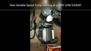 Variable Speed Pump Running Cost Savings Example
