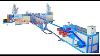 preview picture of video 'pvc lay flat hose machine with ready made sleeves'