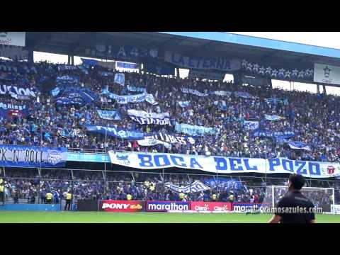 """""""Sale Emelec!. Recibimiento Emelec vs. Aucas (22/03/2015)"""" Barra: Boca del Pozo • Club: Emelec"""