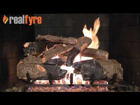 Peterson Real Fyre Charred American Oak Logs with the G31 Burner System
