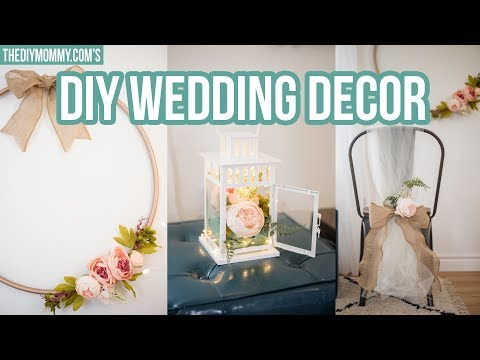 DIY WEDDING DECOR | Modern Wreath, Chair Decoration & Centerpiece