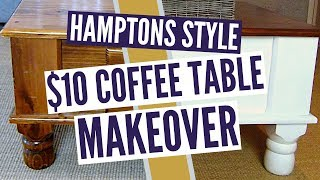 How To Give A $10 Coffee Table A Hamptons Style Makeover!