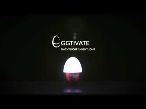 Eggtivate Table and Night light by Troika