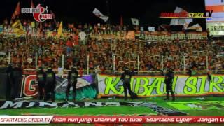 Aksi Aksi Spartacks  SEMEN PADANG VS Arema Cronus Jumat 28 Oktober 2016