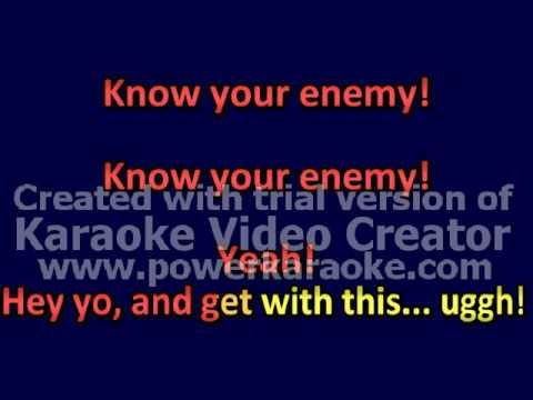 karaoke know your enemy instrumental