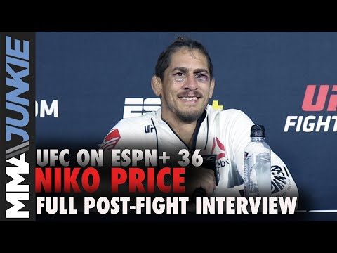 Niko Price reacts to draw with Donald Cerrone | UFC on ESPN+ 36 post-fight interview