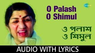 O Palash O Shimul With Lyrics   Lata Mangeshkar   Hemanta